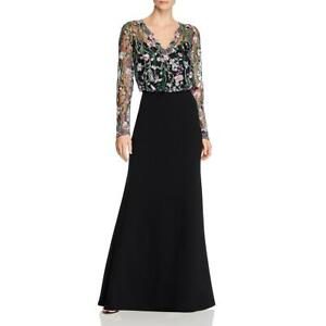 Tadashi Shoji Womens Embroidered Floral Evening Formal Dress Gown BHFO 9397