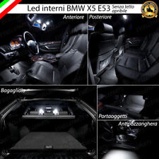 KIT FULL LED INTERNI ABITACOLO BMW X5 E53 SENZA TETTO PANORAMICO CANBUS 6000K