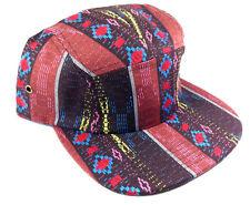 5 PANEL CAMPER NAVAJO PRINT ABSTRACT AZTEC STRAPBACK SNAPBACK HAT CAP ADJUSTABLE