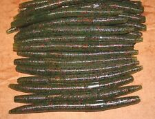 "5"" Stick Senko Style Watermelon Red Fleck 50 count bag bulk Bass Plastic Worm"