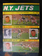 Vintage 1964 New York Jets Magazine Volume Number 1 w/Wahoo McDaniel Cover