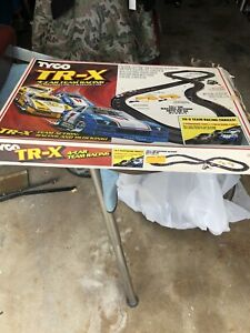 Vintage Tyco HO TR-X 4-Car Team Racing SET # 6222 Used