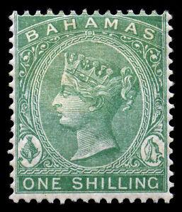 Bahamas 1898. 1sh. Blue Green. SC# 23. SG# 44a. Wmk CA. Perf 14. OGH