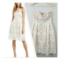 [ SEED HERITAGE ] Womens Strapless Lace Dress RRP$249.95 | Size AU 10 or US 6