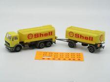 Modellauto: Mercedes Shell-Tanklastzug mit Hänger (Herpa), 1:87