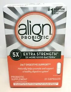 Align Extra Strength Daily Probiotic Supplement 24/7, 21caps exp 2022+ 5051