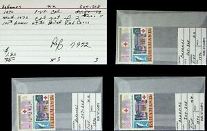 BAHAMAS 1970 BRITIHS RED CROSS CENTENARY 3 CPL SET OF 2 MNH STAMPS