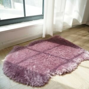 60x80cm Australian Sheepskin Rug Natural Fur High&Low Pile Home Decor Mat Carpet