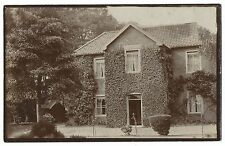 Unidentified Ivy Covered House From Garden RP PC Unposted, Location Unknown