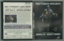 Split Second (DVD, 2002) Rare & Out of Print - OOP - Rutger Hauer
