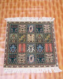 Wool Rugs Turkish Carpet Bedroom Multi Color Carpet Door Mat square 2.6x2.6 ft