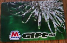 RARE Collectible MARATHON GAS Company Gift Card CHRISTMAS NO CASH VALUE Used