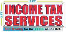 INCOME TAX SERVICES Banner Sign NEW Larger Size Best Price for The $$$