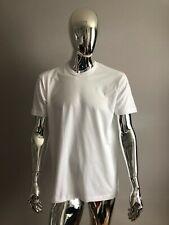 New American Apparel Men's T-Shirt Crew Neck White Cotton Tee Size L