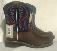 Ariat Womens Fatbaby Heritage Boots Western/riding boot BROWN BLUE SIZES 7 & 7.5
