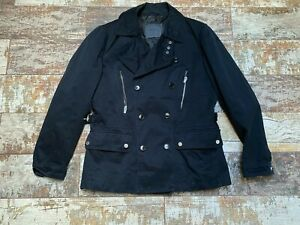 ZARA Men's Black Double Breasted Pea Coat Size L