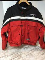 TEKNIC Hydro Guard Motorcycle Jacket Black/Red/White Padded Protection 50/60 EUC