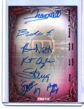 TNA Sting Nash Angle Steiner BookerT 2009 Knockouts BLUE Six Autograph Card 1/25