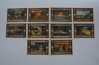 POPPENBUTTEL NOTGELD 10x 50 PFENNIG 1922 COMPLETE SET GERMANY BANKNOTE(S) (4900)