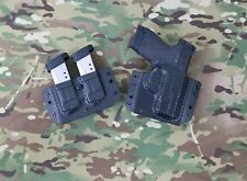 Smith&Wesson MP Shield 9/40 Kydex Holster&Double Mag Pouch OWB Black CarbonFiber