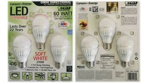 Feit Electric 60 Watt Replacement Omni Directional LED Dimmable 3 PK