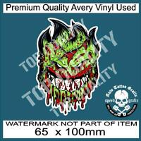 ZOMBIE HEAD UNDEAD OUTBREAK DECAL STICKER REANIMATED LIVING DEAD STICKERS