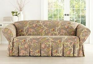 Sure Fit Waverly ONE PIECE LOVESEAT Slipcover CASABLANCA ROSE CARDAMOM NEW4