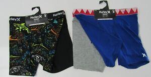 Hurley Boys Dri Fit Performance Boxer Briefs Underwear 2 Pack Nwt