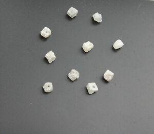 1 x  Rohdiamat Würfel Weiß grau gebohrt Natur Roh Diamant ca. 02 kt / 2,4-2,6 mm