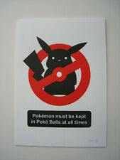 Olly Moss Pokemon Letterpress. Signed Numbered NUMBER 1. Limited edition rare go