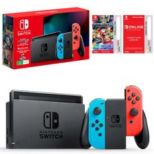 Nintendo Switch Neon Joy-Con Console + Mario Kart 8 Deluxe & Online Membership
