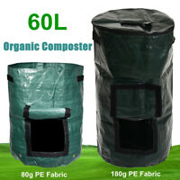 60L Organic Composter Waste Converter Bins Eco Friendly Compost Storage  Y