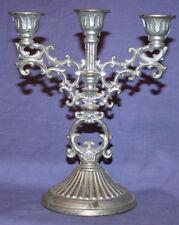 Vintage ornate metal candelabra
