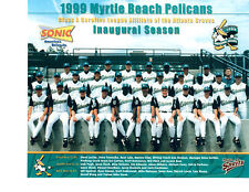 1999 MYRTLE BEACH PELICANS 8X10 TEAM PHOTO  BASEBALL ATLANTA BRAVES