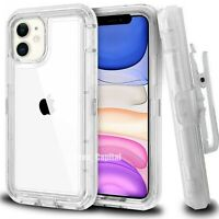 For iPhone 12 Mini 6 7 8 Plus X XR 11 PRO MAX Shoockproof Clear Defender Case