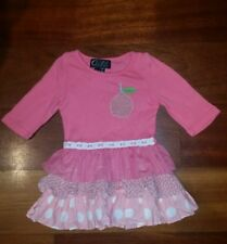 Girls Oobi Dress with Apple and Ruffles - Size 0