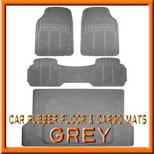 Fits 3PC Honda Pilot Premium Grey Rubber Floor Mats & 1PC Cargo Trunk Liner mat