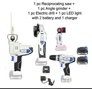 12V ELECTRIC CORDLESS Li-on Battery Angel Grinder Drill Power Tool COMBO-KIT