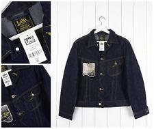 NUOVO lee vintage giacca di jeans blu scuro un colore M/L MEDIO/GRANDE