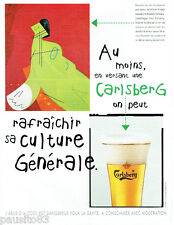 PUBLICITE ADVERTISING 125  1996  CARLSBERG bière la dame gants blancs W. FREDDIE