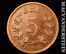Norway: 1875 Five Ore #W270