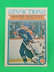 1982-83 O-Pee-Chee OPC #107 Wayne Gretzky In-Action Edmonton Oilers