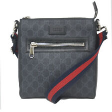 Gucci GG Supreme Grey Monogram Canvas Messenger Bag