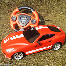 Cheapest Remote/Radio Control Nonchargeable Racing Car with Round Steering Red