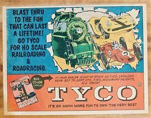 VINTAGE 1969 TYCO HO SLOT CAR ADVERTISEMENT