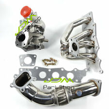 for MAZDA Mazdaspeed 3 2.3L k0422 turbocharger + Exhaust manifold + Downpipe