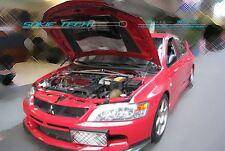 Mitsubishi Evolution EVO 7 8 9 CT9A Black Strut Lifter Shock Bonnet Hood Damper