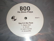 "Da Boss Playa 12"" say It 2 My Face GREY VINYL"