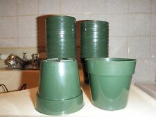 """3"""" Round Standard Green Pots ~ For African violets & their cousins ~ Qty 50"""