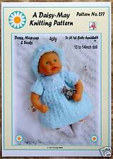 """1 DOLLS KNITTING PATTERN for 1st baby Annabell.13""""-14"""" Doll  by Daisy-May"""